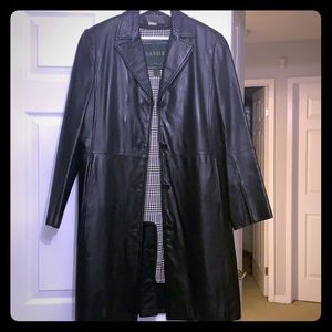 Danier women's size small black leather jacket
